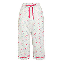 Buy John Lewis Floral Sprig Dobby Crop Pyjama Pants, White / Multi Online at johnlewis.com