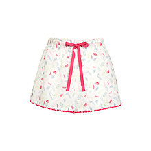 Buy John Lewis Floral Sprig Dobby Shorts, White / Multi Online at johnlewis.com