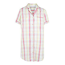 Buy John Lewis Folk Check Nightshirt, Multi Online at johnlewis.com