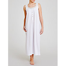 Buy John Lewis Jersey Long Nightdress, White Online at johnlewis.com
