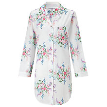 Buy John Lewis Bouquet Floral Nightshirt, White / Multi Online at johnlewis.com