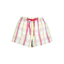 Buy John Lewis Folk Check Shorts, White / Multi Online at johnlewis.com