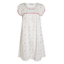 Buy John Lewis Floral Sprig Dobby Nightdress, White / Multi Online at johnlewis.com