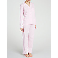 Buy John Lewis Carrie Spot Jersey Pyjama Set, Pink Online at johnlewis.com