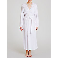 Buy John Lewis Lace Trim Jersey Robe, White Online at johnlewis.com