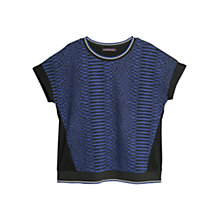 Buy Violeta by Mango Contrast Jacquard Sweatshirt, Blue Online at johnlewis.com