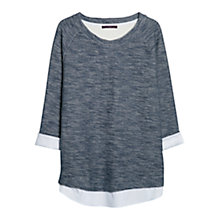 Buy Violeta by Mango Combi Cotton Jumper, Navy Online at johnlewis.com