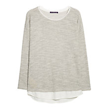 Buy Violeta by Mango Metallic Thread Sweatshirt, Light Beige Online at johnlewis.com