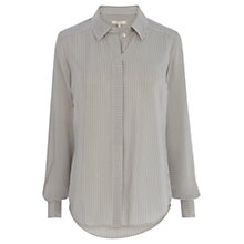 Buy Wishbone Astrid Silk Stripe Shirt, Grey/White Online at johnlewis.com