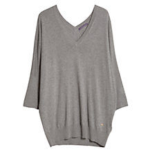 Buy Violeta by Mango Silk Blend V-Neck Jumper Online at johnlewis.com