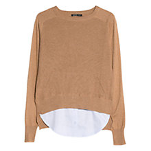 Buy Mango Silk Cashmere Sweater, Dark Brown Online at johnlewis.com