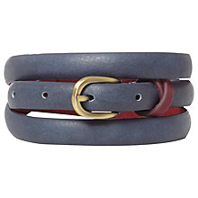 Buy White Stuff Cross Keeper Skinny Belt, French Blue Online at johnlewis.com