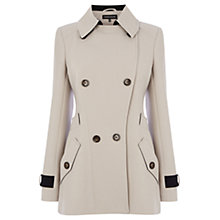 Buy Warehouse Clean Crepe Reefer Coat, Cream Online at johnlewis.com