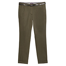 Buy Violeta by Mango Cotton Chino Trousers, Khaki Online at johnlewis.com