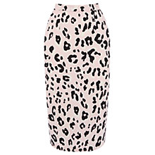 Buy Warehouse Animal Print Skirt, Pink Pattern Online at johnlewis.com