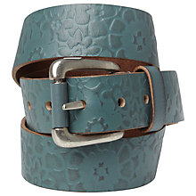 Buy White Stuff Embossed Flower Belt, Privet Green Online at johnlewis.com