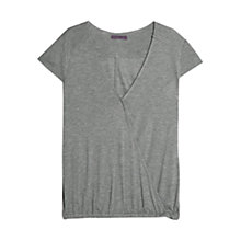 Buy Violeta by Mango Textured Wrap T-Shirt, Grey Online at johnlewis.com