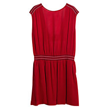 Buy Mango Open Back Dress, Dark Red Online at johnlewis.com