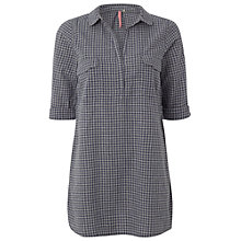 Buy White Stuff Micro Gingham Tunic Top, London Blue Online at johnlewis.com