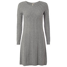 Buy White Stuff Ellsworth Cable Knit Dress, Grey Online at johnlewis.com