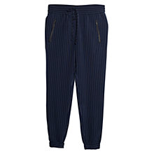 Buy Mango Pinstripe Trousers, Navy Online at johnlewis.com