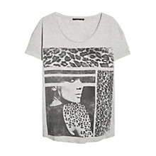 Buy Violeta by Mango Graphic Print T-Shirt, Grey Online at johnlewis.com
