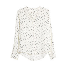 Buy Mango Heart Print Shirt, Natural White Online at johnlewis.com