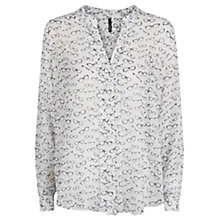 Buy Mango Glasses Print Shirt, Natural White Online at johnlewis.com