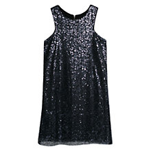 Buy Mango Sequined Shift Dress, Navy Online at johnlewis.com