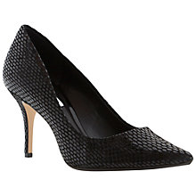 Buy Dune Alina Stiletto Heeled Court Shoes, Black Reptile Online at johnlewis.com