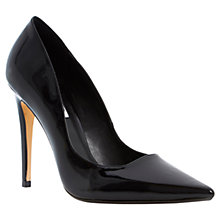 Buy Dune Brook Ultra Slim Heel Extreme Pointed Toe Court Shoe Online at johnlewis.com