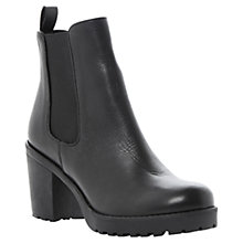 Buy Dune Pring Heeled Cleated Sole Leather Chelsea Ankle Boots Online at johnlewis.com