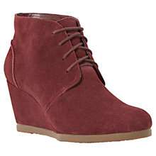 Buy Dune Pippah Wedge Heeled Shoe Boots, Berry Online at johnlewis.com