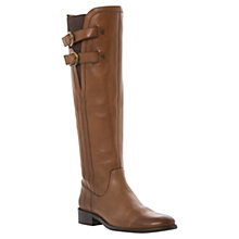 Buy Dune Leather Tirrent Side Buckle Knee High Boots Online at johnlewis.com