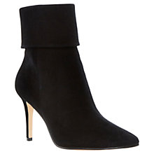 Buy Dune Naturally Suede Stiletto Heeled Ankle Boots, Black Online at johnlewis.com
