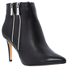 Buy Dune Namedrop Leather Double Zip Heeled Ankle Boots Online at johnlewis.com