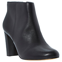 Buy Dune Nextdoor Leather Block Heeled Ankle Boots, Black Online at johnlewis.com