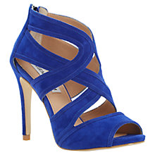 Buy Steve Madden Immence Suede Strappy High Stiletto Heel Sandals, Blue Online at johnlewis.com