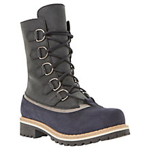 Buy Dune Raincloud Leather Lace Up Calf Boots Online at johnlewis.com