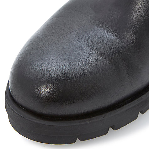 Buy Dune Phoebe Leather Chunky Cleated Sole Ankle Boots Online at johnlewis.com