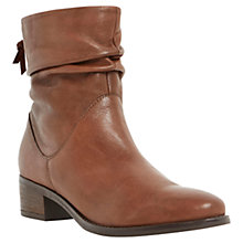 Buy Dune Pager Leather Flat Ankle Boots Online at johnlewis.com