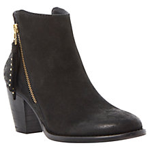 Buy Steve Madden Whysper Leather Mid Block Heel Ankle Boots Online at johnlewis.com