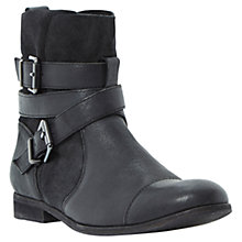 Buy Dune Poot Leather Buckle Ankle Boots Online at johnlewis.com