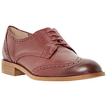 Buy Dune Leslee Lace Up Brogues, Burgundy Online at johnlewis.com