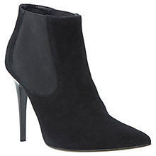 Buy Dune Anola Pointed Suede Ankle Boots, Black Online at johnlewis.com