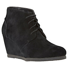 Buy Dune Pippah Wedge Heeled Shoe Boots, Black Suede Online at johnlewis.com