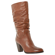 Buy Dune Raddle Leather High Heel Calf Boots Online at johnlewis.com