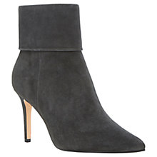Buy Dune Naturally Suede Stiletto Heeled Ankle Boots, Grey Online at johnlewis.com