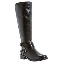 Buy Dune Tonic Leather Black Knee High Boots Online at johnlewis.com