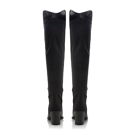 Buy Dune Trudy Stretch Panel Block Heel Over the Knee Boots Online at johnlewis.com